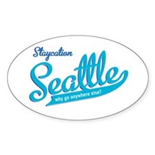 Seattle Staycation Oval Sticker