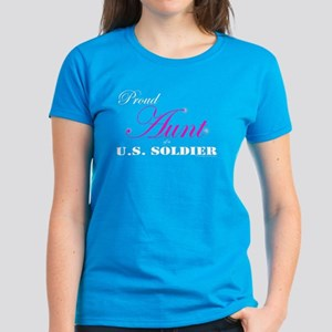 Proud Aunt of a U.S. Soldier Women's Dark T-Shirt