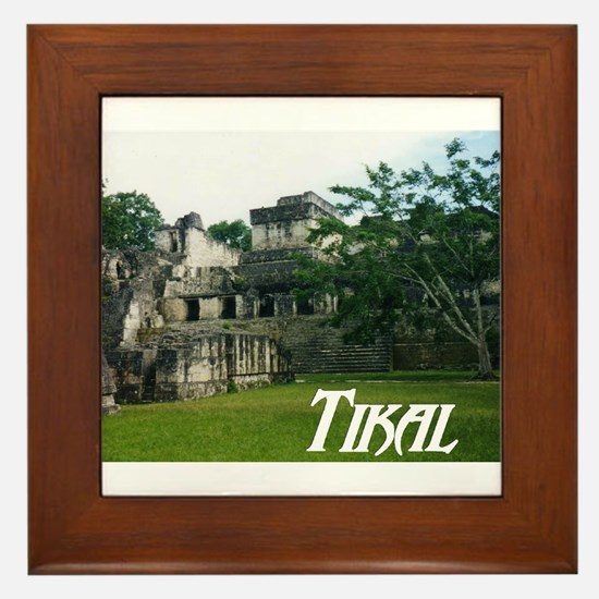 Tikal Courtyard Framed Tile