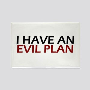 Evil Plan Rectangle Magnet