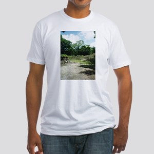 Empty Courtyard Fitted T-Shirt
