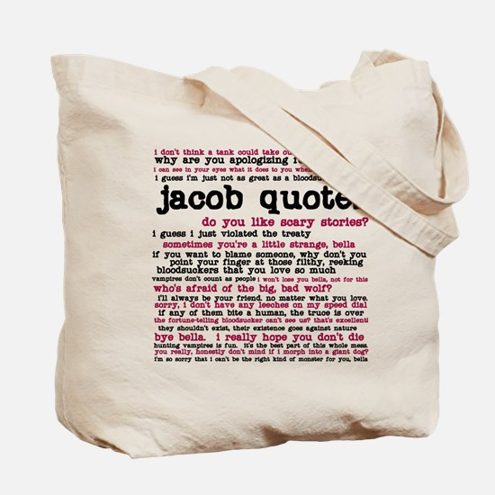 Tote Bag with two sides of different Jacob Quotes!