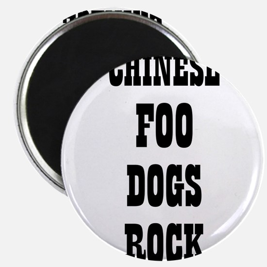 """CHINESE FOO DOGS ROCK 2.25"""" Magnet (10 pack)"""