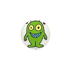 Little monster green Mini Button (10 pack)