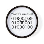 Geek Dad Wall Clock