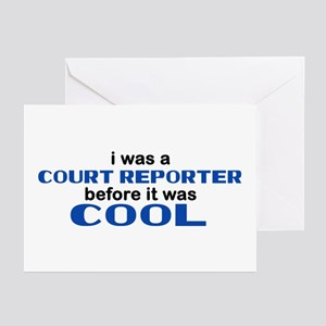 Court Reporter Before Cool Greeting Cards (Pk of 1