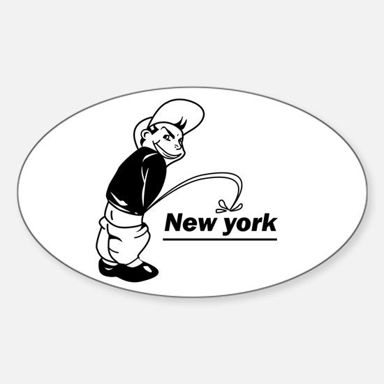 Piss on newyork Oval Decal