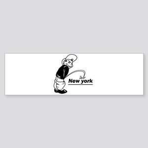 Piss on newyork Bumper Sticker