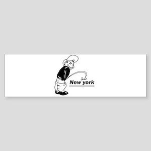 Piss on newyork Bumper Sticker