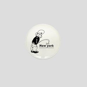 Piss on newyork Mini Button