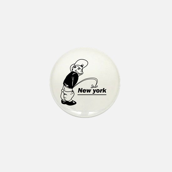 Piss on newyork Mini Button