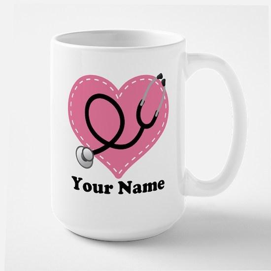 Personalized Nurse Heart Mugs