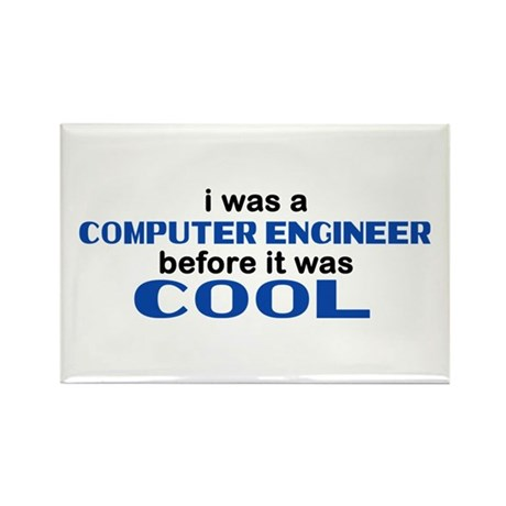 Computer Engineer Before Cool Rectangle Magnet