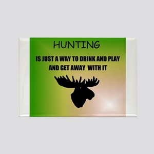 HUNTING GAME Rectangle Magnet