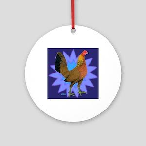Starburst Gamefowl Hen Ornament (Round)