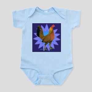 Starburst Gamefowl Hen Infant Bodysuit