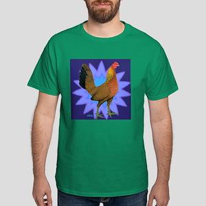 Starburst Gamefowl Hen Dark T-Shirt