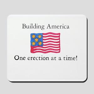 Crane operators buld America Mousepad