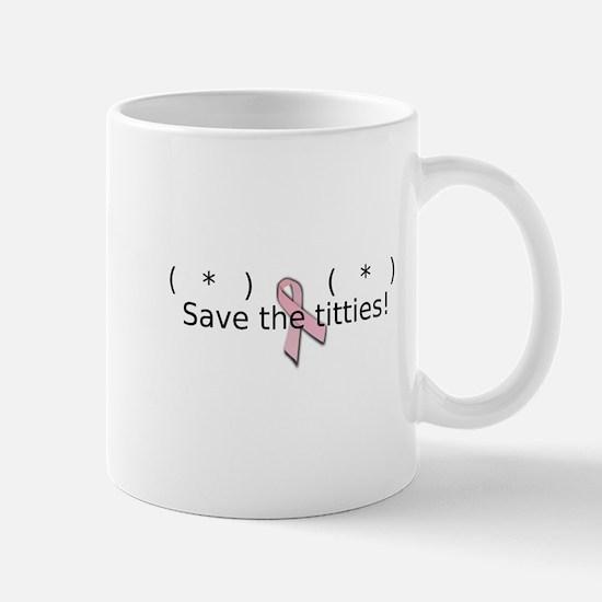 Save the titties! Mug