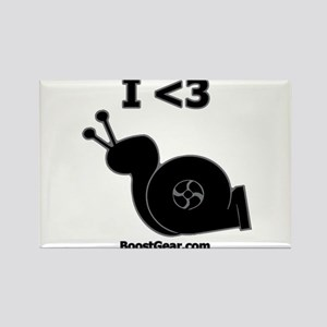 I <3 Turbo Snail - Rectangle Magnet by BoostGea