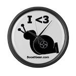 I <3 Turbo Snail - Large Wall Clock by BoostGea