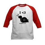 I <3 Turbo Snail - Kids Baseball Jersey