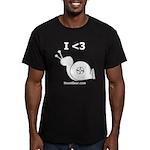 I <3 Turbo Snail - Men's Fitted T-Shirt (dark)