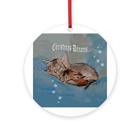 "Kitten ""Christmas Dreams"" Ornament (Round)"