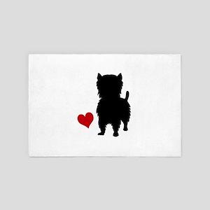West Highland Terrier 4' x 6' Rug