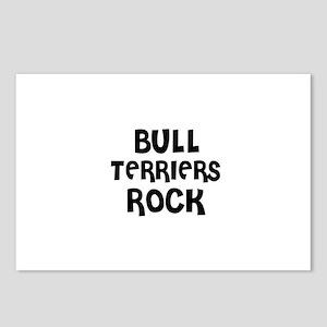BULL TERRIERS ROCK Postcards (Package of 8)
