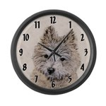 Cairn Terrier Puppy Large Wall Clock