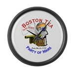 Boston Tea Party of Mars Large Wall Clock