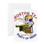 Boston Tea Party of Mars Greeting Card