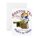 Boston Tea Party of Mars Greeting Card
