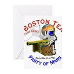 Boston Tea Party of Mars Greeting Cards (Pk of 10)