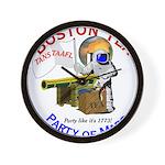 Boston Tea Party of Mars Wall Clock