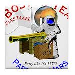 Boston Tea Party of Mars Tile Coaster