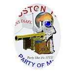 Boston Tea Party of Mars Oval Ornament