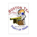 Boston Tea Party of Mars Mini Poster Print