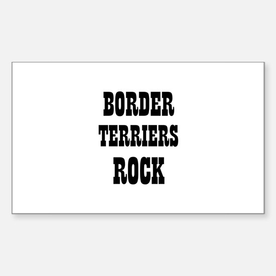 BORDER TERRIERS ROCK Rectangle Decal