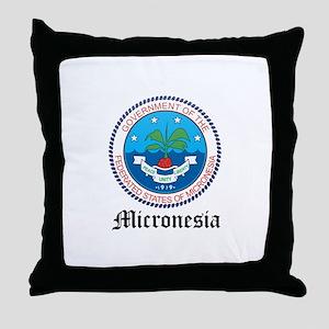 Micronesian Coat of Arms Seal Throw Pillow