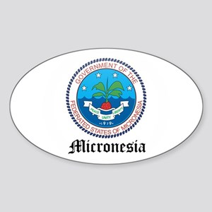 Micronesian Coat of Arms Seal Oval Sticker