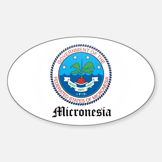 Micronesian Coat of Arms Seal Oval Decal