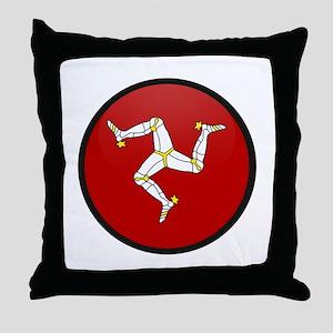 Isle of Man Throw Pillow