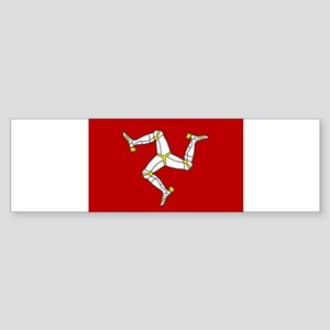 Isle of Man Flag Bumper Sticker