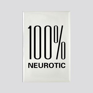 100% Neurotic Rectangle Magnet