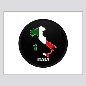 Flag Map of Italy Small Poster