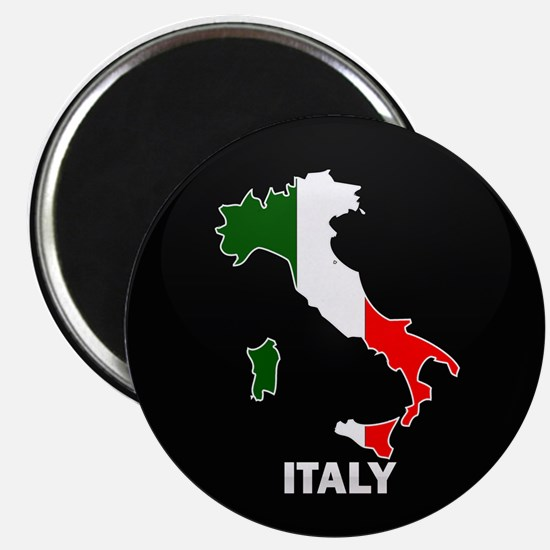 Flag Map of Italy Magnet