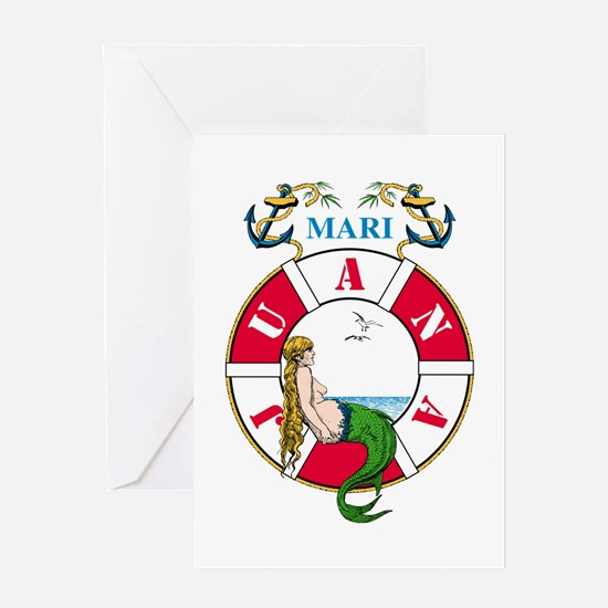 Mary J Mermaid Greeting Card