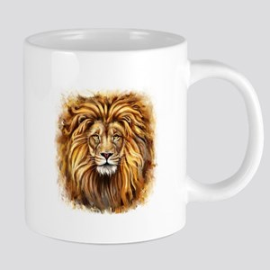Artistic Lion Face 20 oz Ceramic Mega Mug